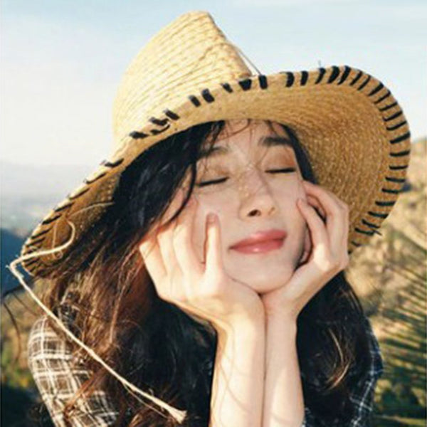 Korean Sun Hat Straw Plaited Article Summer Hats