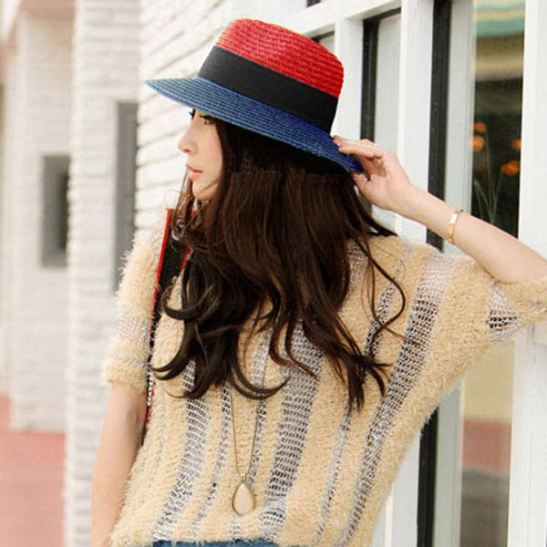 Korean Fedora Hat Straw Plaited Article Summer Hats