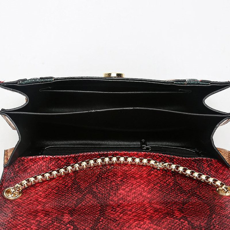 PU Serpentine Chain Rectangle Tote Bags