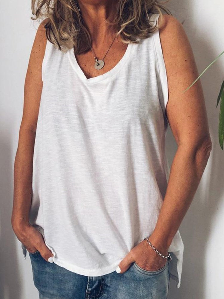 Polyester Mid-Length Tank Top