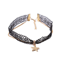 Korean Choker Necklace Star Female Necklaces
