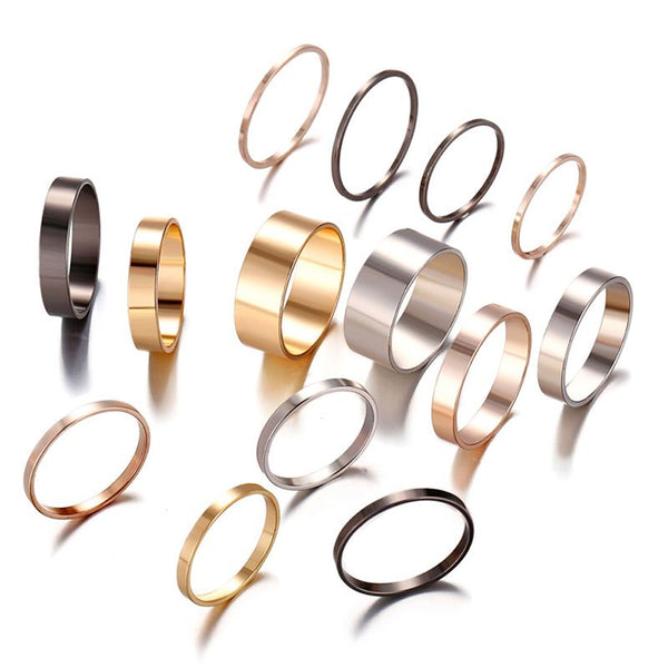 E-Plating European Alloy Birthday Rings