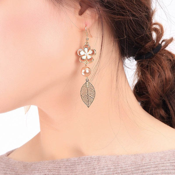 Floral Alloy Sweet Prom Earrings