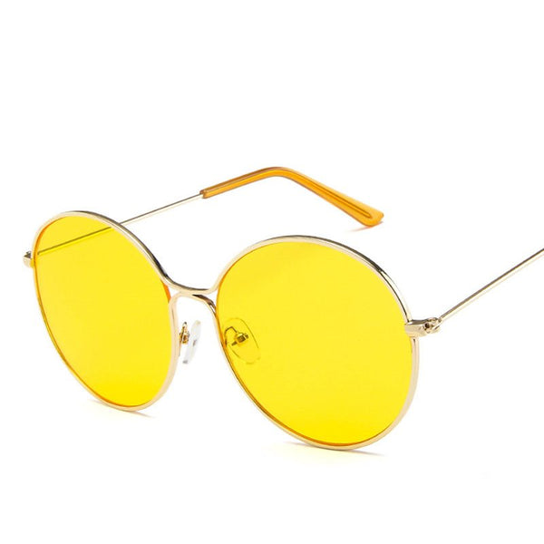Round Fashion Resin Sunglasses