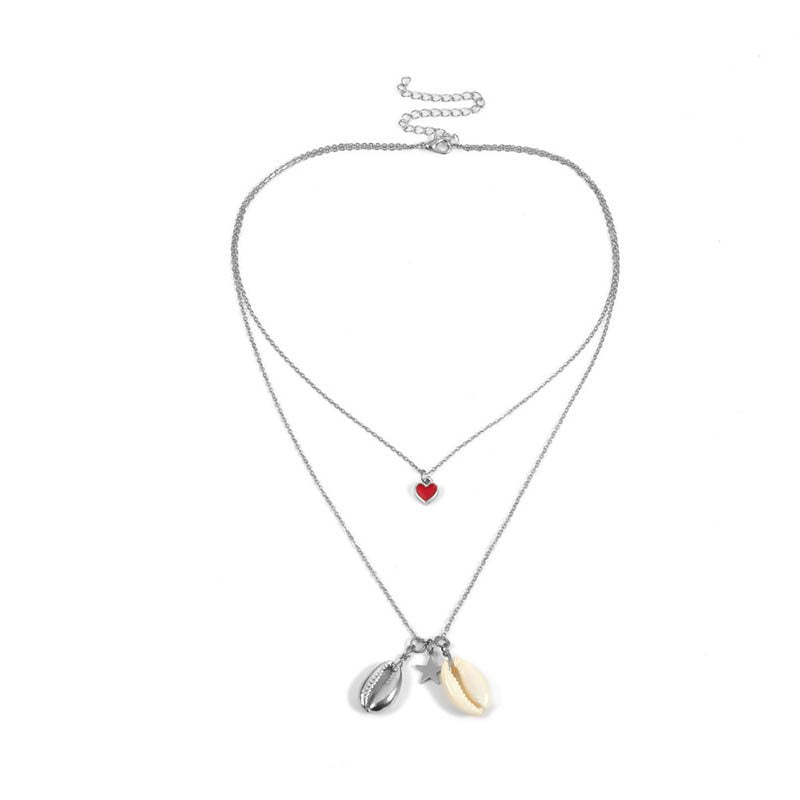 Heart-Shaped European E-Plating Female Necklaces