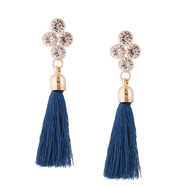 Tassel Floral Alloy Holiday Earrings