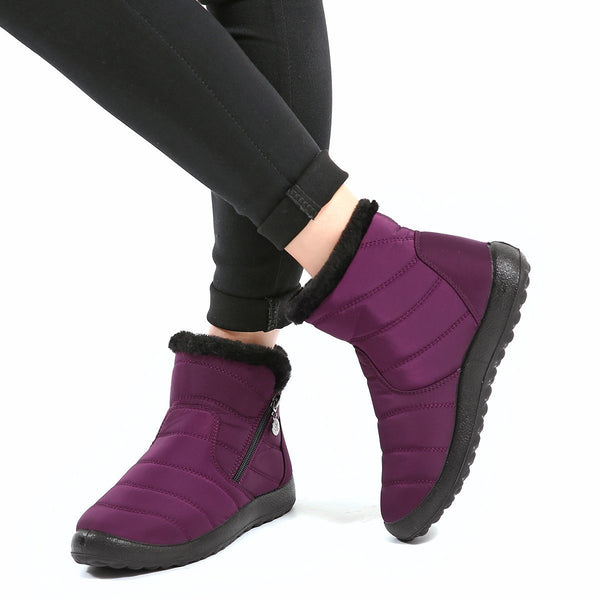 Side Zipper Round Toe Casual Suede Boots