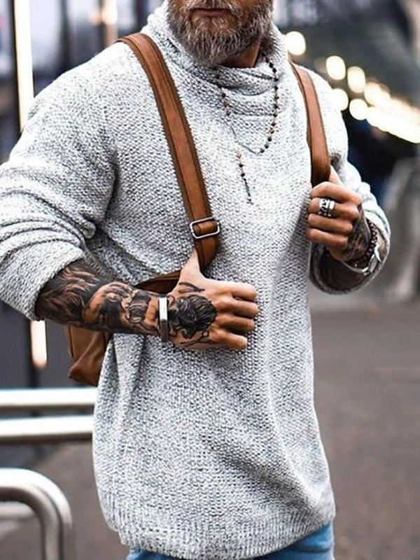 Plain Standard Loose Casual Sweater