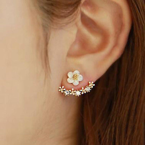 E-Plating Alloy Floral Birthday Earrings