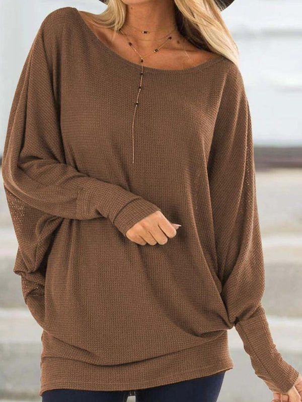 Thin Regular Round Neck Long Sleeve Sweater