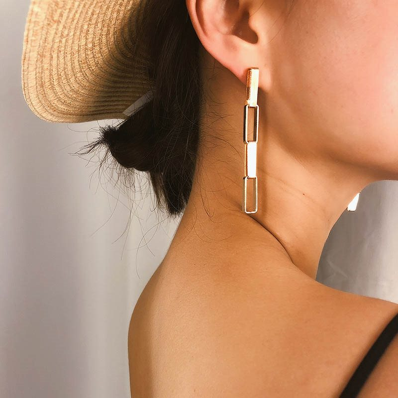 Vintage Plain E-Plating Party Earrings