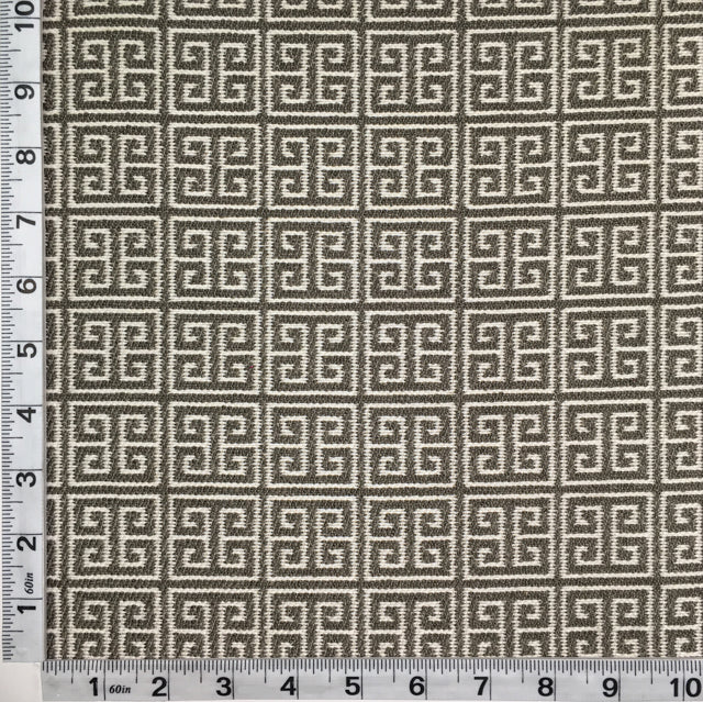 Discount Upholstery Fabric - Greek Key Grecco Graphite