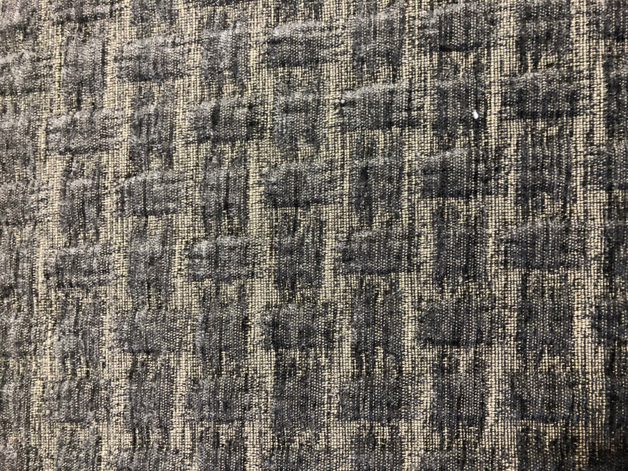 Discount Upholstery Fabric - Interlace Charcoal 3.2 yards