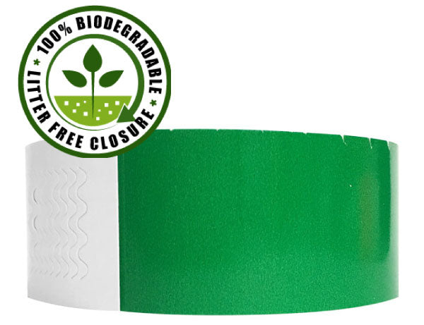 All 1 inch Genesis Biodegradable Wristbands