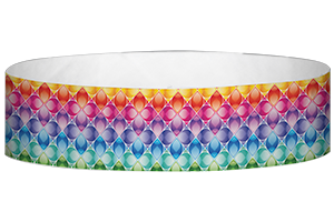 Tyvek® 3/4 inch Pattern Wristbands