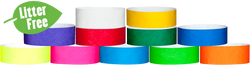 "1"" Tyvek® Wristband Litter Free Combo Packs"