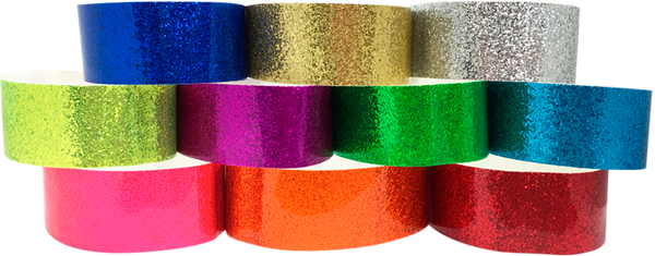 "Adhesive 1"" X 10"" Sparkle Solid Color wristbands"