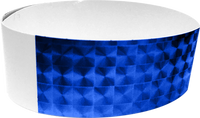 "An Adhesive 1"" X 10"" Techno Solid Blue wristband"