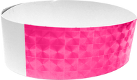 "An Adhesive 1"" X 10"" Techno Solid Neon Pink wristband"