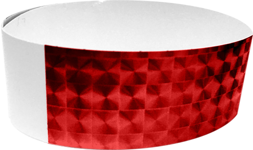 "An Adhesive 1"" X 10"" Techno Solid Red wristband"