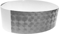 "An Adhesive 1"" X 10"" Techno Solid Silver wristband"