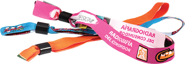"Custom Woven 0.59"" X 13.7"" Fabric Wristband"