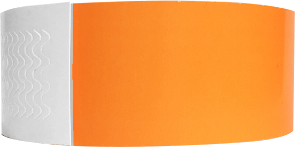 "Genesis 1"" Litter Free Biodegradeable Solid Neon Orange Wristband"