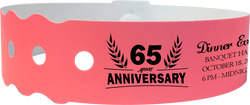 Custom 1-Color Genesis Biodegradable Straight-Wave Snapped Wristbands
