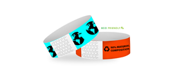 "Custom Eco-Galaxy 1"" x 10"" One Color Same Day Print Wristbands"