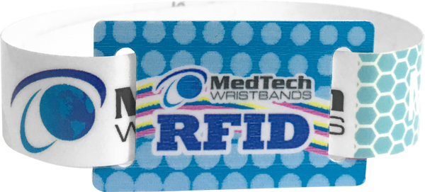 Custom Snapped wristbands with RFID sliding tag
