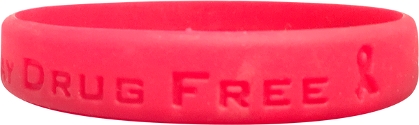 Silicone Be Real Stay Drug Free Wristband