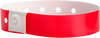 A Soft Comfort L-Shape Snapped Solid Neon Red wristband