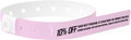 "Custom Soft Comfort Plastic Slim 2"" Stub One Color Imprint Snapped Wristbands"