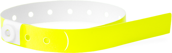 A Soft Comfort L-Shape Snapped Solid Neon Yellow wristband