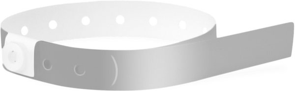 A Soft Comfort L-Shape Snapped Solid Silver wristband