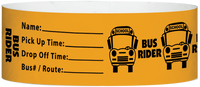 "A Tyvek® 1"" X 10"" Bus Rider Neon Orange wristband"