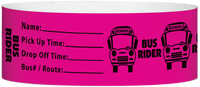 "A Tyvek® 1"" X 10"" Bus Rider Neon Pink wristband"