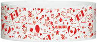 "A Tyvek® 1"" X 10"" Canada Celebrations Wristband"