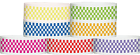 "Tyvek® 1"" x 10"" Checker pattern wristbands"