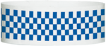 "A Tyvek® 1"" X 10"" Checkerboard Blue wristband"