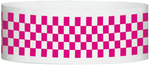 "A Tyvek® 1"" X 10"" Checkerboard Neon Pink wristband"