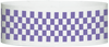 "A Tyvek® 1"" X 10"" Checkerboard Purple wristband"