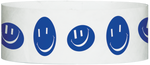 "A Tyvek® 1"" X 10"" Happy Face Blue wristband"
