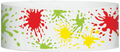 "Tyvek® 1"" x 10"" Paint Splatter pattern wristbands"