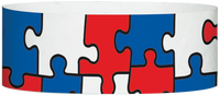 "A Tyvek® 1"" X 10"" Puzzle Multicolored wristband"