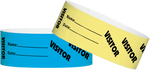 "Tyvek® 1"" X 10"" Visitor Wristbands"