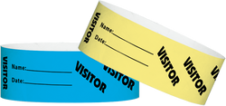"Tyvek® 1"" x 10"" Visitor pattern wristbands"