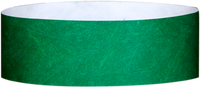 "A 1"" Tyvek® litter free solid Green wristband"
