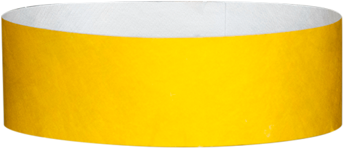 "A 1"" Tyvek® litter free solid Yellow wristband"