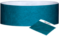 "A 1"" Tyvek® with stub solid Aqua wristband"